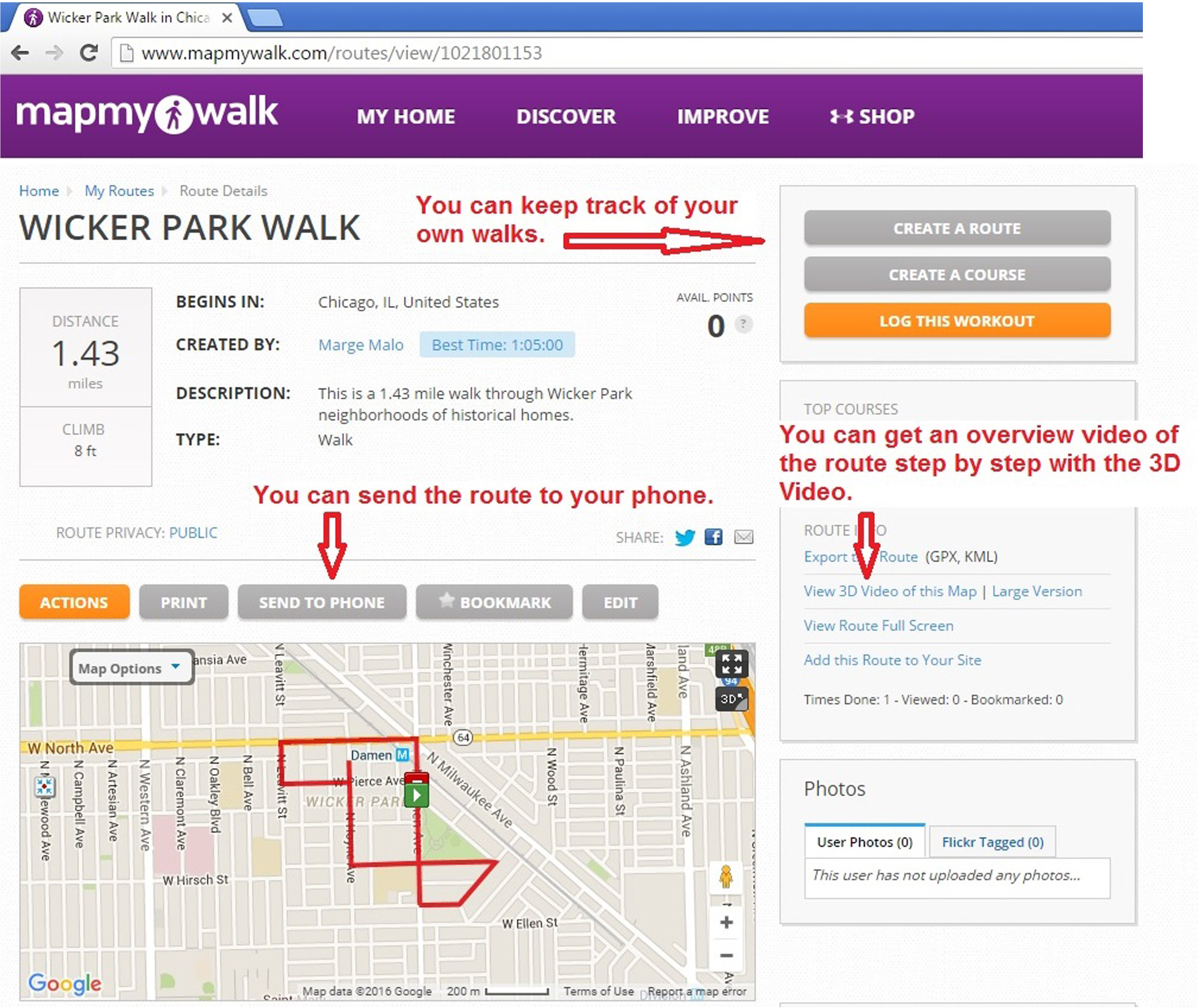 Using Map My Walk | Chicago Neighborhood Walks on map my trip, map my distance, map my city, chart my route, map my run, plan my route, map of my land, map out a route trip, map my place, map my state, map my name, map my drives, mapping a route, map sf 5k route,